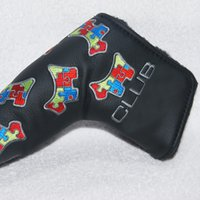 Wholesale New Hot Golf Clubs Headcover High Quality PU Golf Putter Headover with Black White colors with Embroider