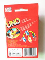 Wholesale UNO g Poker Card Standard Edition Family Fun Entermainment Board Game Kids funny Puzzle game UNO card board games