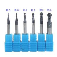 ball router - set R0 R0 R1 R1 R2 R3 Real HRC45 For flutes ball nose end mill milling cutter CNC router bit