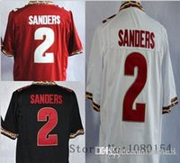 ball stops - 2016 New Sale Men s Deion Sanders White Red Black Team Color Stitched NCAA Florida State Seminoles Foot Ball Jers