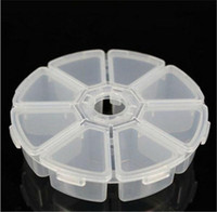 Wholesale 100 Grid Guitar Picks Box Circle Independently Open Close Clear Plastic Storage Box Keep Plectrum Guitar Accessories