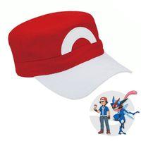 ash pokemon snapback - Poke mon Go Pocket Monster Ash Ketchum Cosplay Tranier Poke mon Hat Adjustable Baseball Snapback Cotton Cap