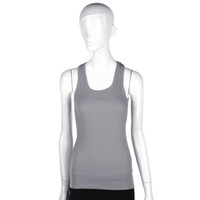 Wholesale Sexy Women Sports Fitness Sleeveless Camisole Cotton Vest Solid Color Tank Top Fashion