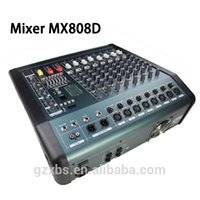 audio mixer channel - Portable Channel Mic Line Audio Mixer Mixing Console PMX808D USB Interface V Phantom Power with Power Adapter