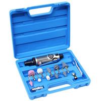 air polisher kit - 3mm Mini Pneumatic Air Die Grinder Tool Kit Micro Pneumatic Grinding mm Air Die Grinder High Speed rpm Portable Air Power Polishers