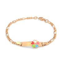 baby bracelete - 155mm Cute Girls Bracelets Baby Jewelry Gift Heart Bracelet Gold Chain Bracelets amp Bangles Enfants Pulsera Bebe Bracelete BR29M2