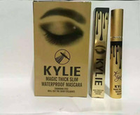 Wholesale 2016 Charming eyes Magic Thick Slim Kylie Mascara Waterproof Mascara Black Color DHL High quality