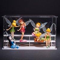 Wholesale 100set Set DIY Miniature Flying Flower Fairy Garden Landscaping Flower Ornaments Succulent Decoration Cartoon Gifts ZA0702
