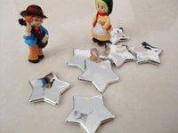 Adornos de pared al aire libre Baratos-La estrella al aire libre doble de la etiqueta engomada 2.5cm de la pared de la etiqueta engomada del partido de la decoración del hogar de la decoración de la Navidad del envío 120pcs /