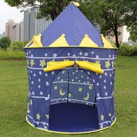 Wholesale High Quality Children Beach Tent Prince and Princess Palace Castle Children Playing Indoor Outdoor Toy Tent Game House