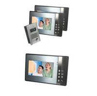Wholesale 7 Inch TFT Touch Screen Color Video Door Phone Intercom Camera Three Monitor