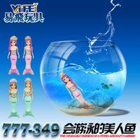 bath toys mermaid - Summer swimming bath toys electric fish mermaid toxic ABS cm battery powered toys