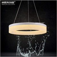 Wholesale LED Pendant Ring Lights White Acrylic LED Suspension Hanging Lamp Dining Room Asile Corridor Light Fixture Guaranteed