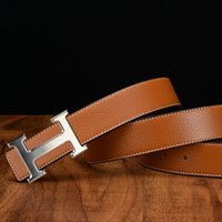 Wholesale Men and women belt hermet belt agings strap male genuine leather smooth buckle belt cm
