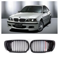 Wholesale Front Gloss Black M color Kidney Grille Grill For BMW E46 D Series