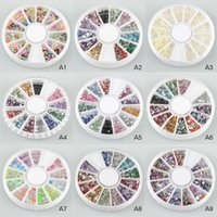 Wholesale Nail Art Rhinestones Glitters Acrylic Tips Decoration Manicure Wheel K00020 SPDH