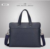 Wholesale New Designer Style Men Genuine Leather Handbag Men Polo Black Brown Briefcase Laptop Business Shoulder Bag Messenger Bag