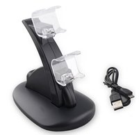 Wholesale High Speed Dual Controller Charger Station for Sony PlayStation PS4 USB Charging Adapter Cradle PS4 Gaming Controller Charger