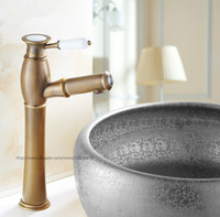 antique water spout - New Arrivel Contemporary Modern Open Spout Water Tap Bathroom Pull Out Sink Faucet In Antique Brass Faucet