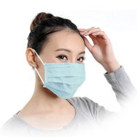 Wholesale 10PCS set Dustproof Anti virus non woven face mask Zero Zone Medical Masks Disposable Respirator One off Mouth Mask Blue