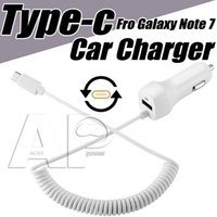 Wholesale USB Type C Car Charger Car Charger USB C Cable For Nexus X P MacBook LG G5 OnePlus HTC Coiled Cable
