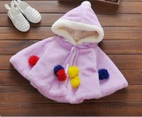Wholesale New fashion style in children lovely pink white yellow and this cloak also with a hat Q0297