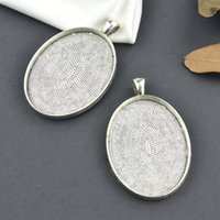 base metal jewelry supplies - Metal tibetan silver charms cabochon mm base pendants fit diy necklace jewelry supplies