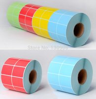 bar code tags - Yellow color Blank Bar Code Label sticker Roll sticker Label self adhesive Price Tags l mm mm