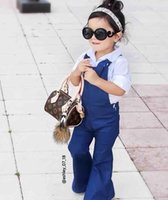 bell bottoms - 2016 autumn new children s bell bottoms baby girls overalls wide leg jeans ins