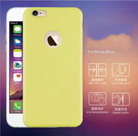Cheap 2016 Hot colorful TPU protective phone cases for iphone 6S 6Plus Ultra-slim matte and flexible button