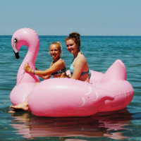 adult ball pool - Oversized flamingo swan water toys horse floating row floating bed adult children swimming laps