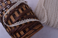 Wholesale 100 Yards GOOD QUALITY Cotton Lace Crochet Ribbon Wedding Sewing Bridal Bow width mm Beige color
