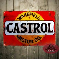 Wholesale TIN SIGN Castrol Motor Oil Metal Decor Wall Art Garage Cave Bar