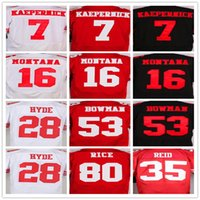Wholesale Best quality jersey Colin Kaepernick Joe Montana Carlos Hyde Eric Reid NaVorro Bowman Jerry Rice elite jerseys