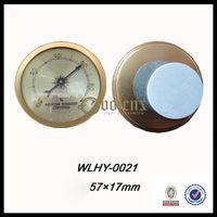 analog cigar hygrometer - Golden Frame Analog Cigar Humidor Hygrometer With Sticker Backing Pad Manufacture Direct Supply mm x mm