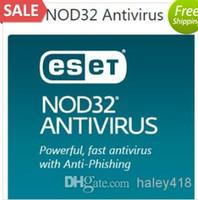 Vente en gros - ESET NOD32 Antivirus 8.0 / 9.0 version la plus récente demi-année 1pc 1user 180days clé avec nom d'utilisateur et mot de passe