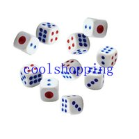 Wholesale Standard Plastic mm Game White Dice Die for Boardgame sets