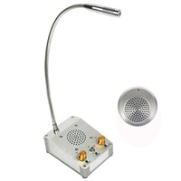 banks offices - 3W Metal Dual Way Window Counter Intercom Interphone System For Bank Office Store F4457D