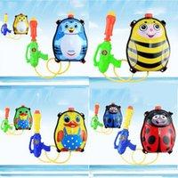 beach backpack cooler - 10pcs Children Backpack Water Guns Dark Tiger Design Beach Outdoor Water Guns Cool Beach Toys for Kids By EMS