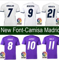 Wholesale Thai Edition Away KROOS Camisetas de Futbol RMN New Reals madrides MEN ADULT SHIRT bale soccer shirt