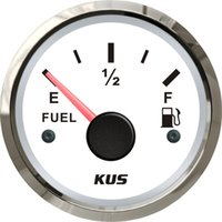 Wholesale mm Fuel level gauge fuel tank gauge ohm signal white faceplate for boat yacht universal car truck