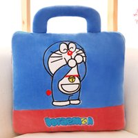 Wholesale Cushion for leaning on of cartoon pillow covers vehicle blanket flannel air conditioning was totoro customized gifts Custom LOGO