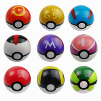 Pokeball juguete bola de monstruo de bolsillo Cute Poke Ball Pokeball mini modelo clásico Anime Pikachu Super Master Ball Figuras de Acción Juguetes 10cm