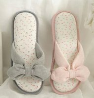 Wholesale Bow Cotton Slippers for Girls Warm Print Cute Princess Shoes