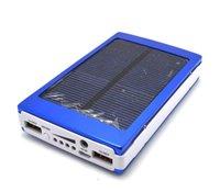Wholesale 30000 mAh Solar Battery Panel external Charger Dual mah solar Charging Ports colors choose for
