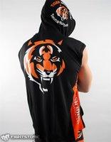 Wholesale Men Boxing Jerseys Hayabusa MMA Sleeveless Fight Wear Tiger Muay Thai T shirt MMA Jersey Custom Wrestling Singlets