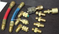 access air - AC MANIFOLD ADAPTER HOSES SET A C AIR CONDITIONING REFRIGERATION CHARGING for accessing R12 vehicle A C Systems