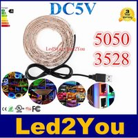 background cool - 5V USB Cable LED Christmas stripe light lamp SMD3528 cm m m m led Flexible Strip Light TV Background Lighting