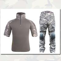 acu camo shorts - EMERSON Tactical version Combat Set ACU Airsoft Camo Uniform BDU Tactical Men Army Uniform Camoflage Uniform Suit Summer Clothing