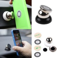 Wholesale 360 magnet magnetic mini car dashboard holder mobile phone holder to install car for iPhone S S Plus For Samsung S4
